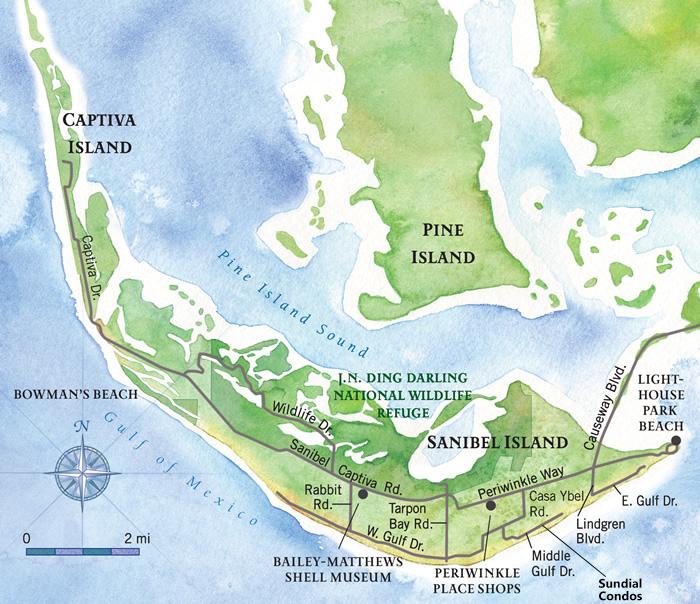 Sanibel Beach Florida Map.Sanibel Island Map Guide To Sanibel Island Vacations